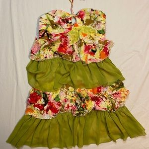 Tropical spring summer layered tiered halter sexy